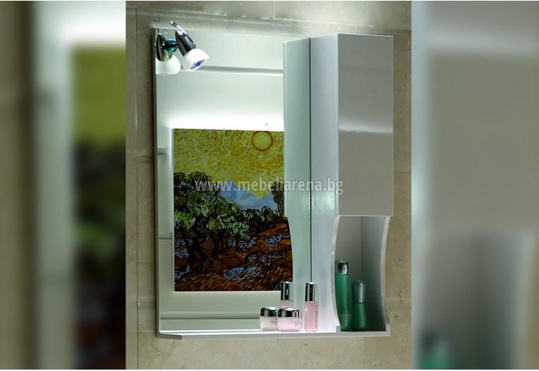 Горен огледален PVC шкаф